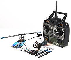 Вертолёт 3D на радиоуправлении микро WL Toys V922 FBL (синий), фото 2