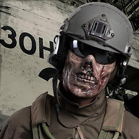 Зомби Череп тактическая маска Косплэй Airsoft Wargame, фото 2