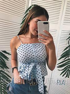 Женская блуза в горошек, в расцветках. МТ-0-0620