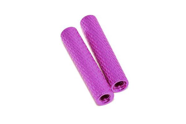 Стойка рифлёная 25мм для рам мультикоптеров (фиолетовый)