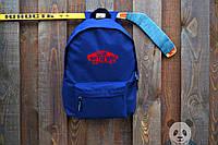 Рюкзак синий с принтом VANS |  ВЭНС |  городской |  реплика