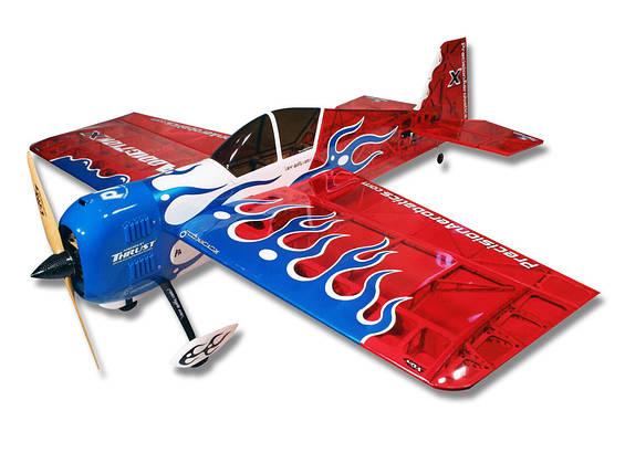 Самолёт р/у Precision Aerobatics Addiction X 1270мм KIT (красный), фото 2