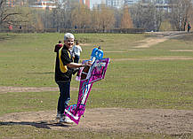 Самолёт р/у Precision Aerobatics Addiction XL 1500мм KIT (фиолетовый), фото 3