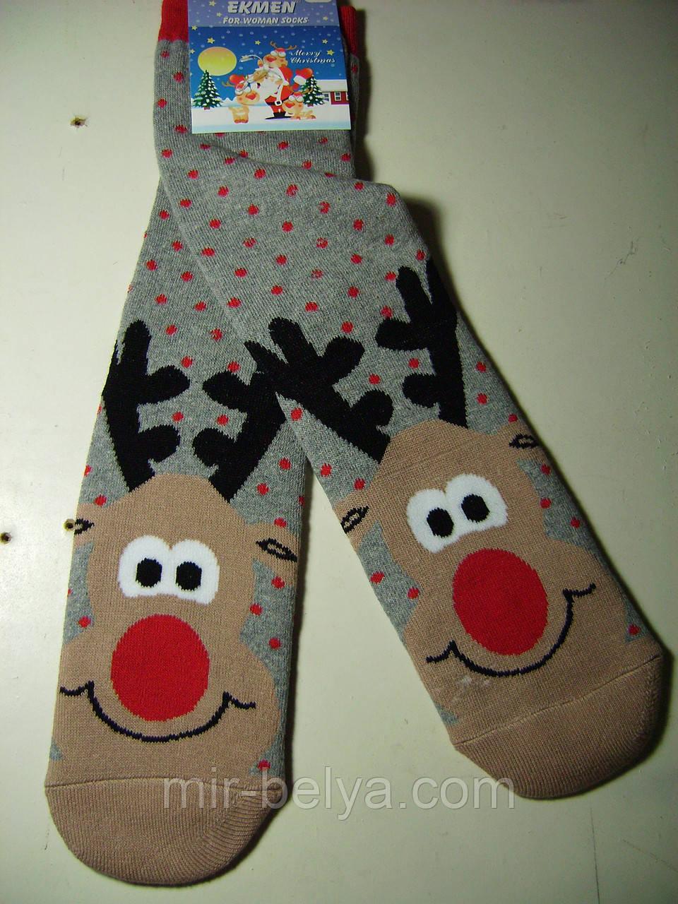 Женские новогодние носки EKMEN высокие
