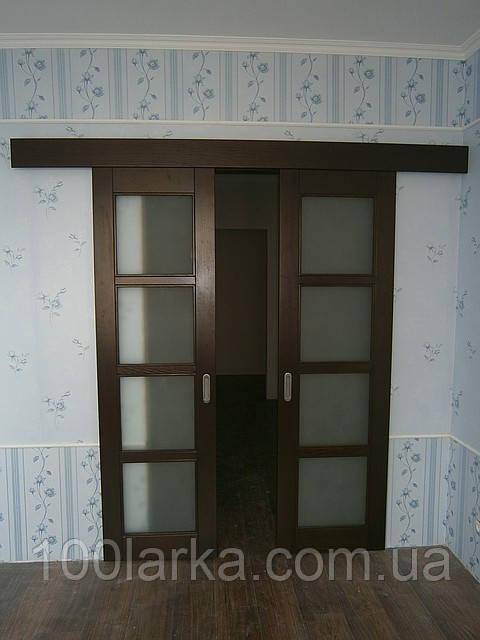 Розсувні міжкімнатні дерев'яні двері з ясеня