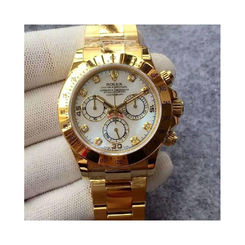 Rolex Cosmograph Daytona Gold-Write Bracelet Diamond