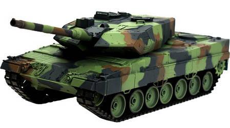 Танк р/у 2.4GHz 1:16 Heng Long Leopard II A6 с пневмопушкой и дымом (HL3889-1), фото 2