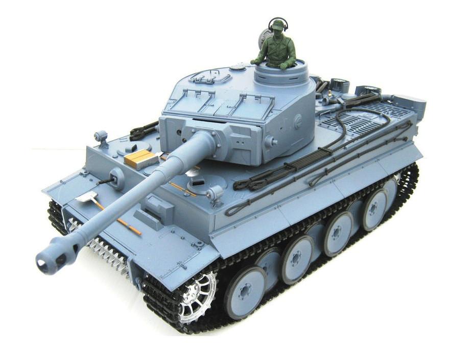 Танк р/у 1:16 Heng Long Tiger I с пневмопушкой и дымом (HL3818-1)