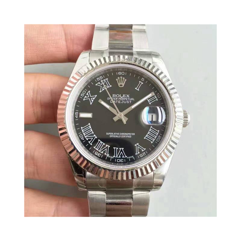 Rolex Date Just II Black Rim
