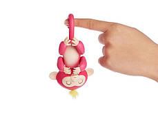 Ручная обезьянка на бат. Happy Monkey интерактивная (розовый), фото 3
