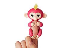 Ручная обезьянка на бат. Happy Monkey интерактивная (розовый), фото 2
