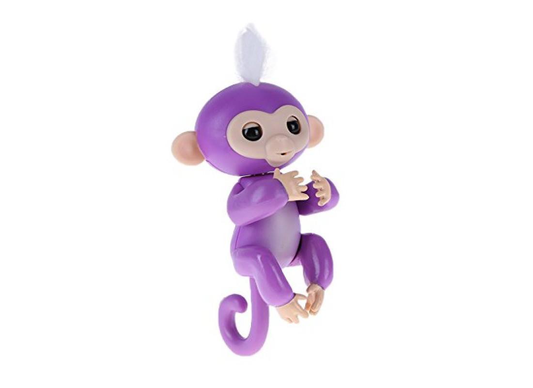 Ручная обезьянка на бат. Happy Monkey интерактивная (фиолетовый)