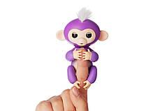 Ручная обезьянка на бат. Happy Monkey интерактивная (фиолетовый), фото 2