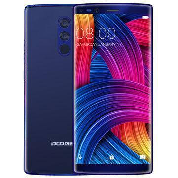 Смартфон ORIGINAL Doogee MIX 2 Blue (8Х2.5Ghz; 6Gb/128Gb; 16+13МР/8+8МР; 4060 mAh)