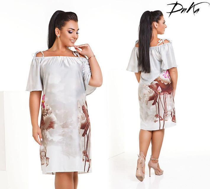 Платье женское короткое шелковое (К23419)