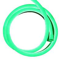 Cветодиодный неон гибкий 220В (120LED/м) IP67 Зеленый