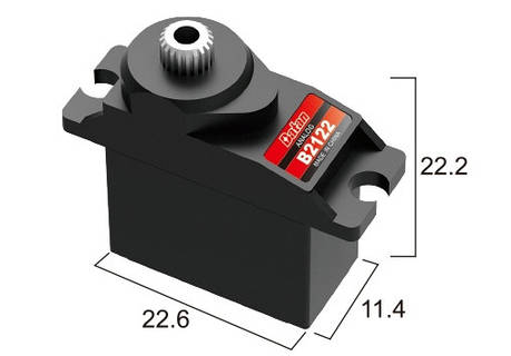Сервопривод микро 11г BATAN B2122 2.5кг/0.12сек металл, фото 2