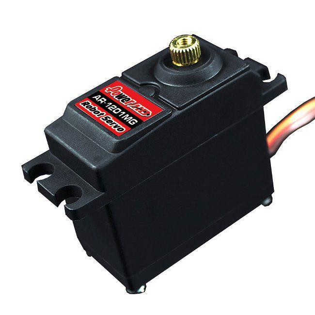 Сервопривод стандарт 60г Power HD 1201MG 13.5кг/0.20сек/360° для роботов