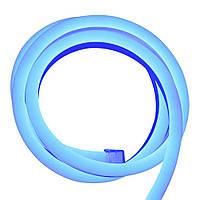 Cветодиодный неон гибкий 220В (120LED/м) IP67 Синий