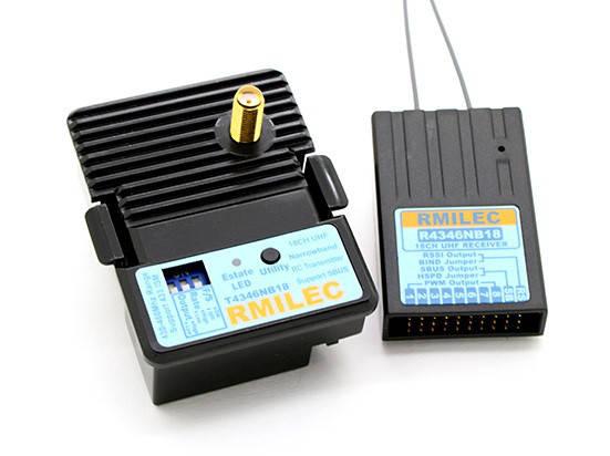 Комплект LRS RMILEC T4346NB18-J/R4346NB18 UHF 430-460MHz 2W 18 каналов  (модуль JR), фото 2