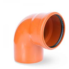Колено наружное канализационное 110/90 Aquer (Польша)