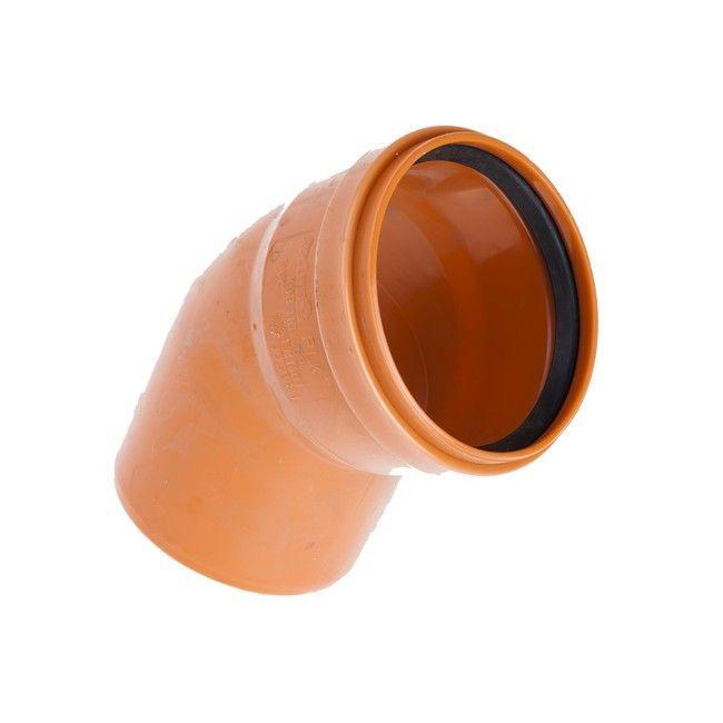 Коліно зовнішнє каналізаційне 110/45 Aquer (Польща)