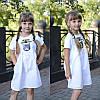 """Детское платье с декором """"CUCCI"""", в расцветках. МО-1-0618, фото 4"""