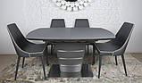 Стол обеденный раздвижной серый ATLANTA (Атланта) 140/180 графит Nicolas (бесплатная доставка), фото 4