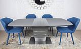 Стіл обідній розсувний сірий ATLANTA (Атланта) 140/180 графіт Nicolas (безкоштовна доставка), фото 2