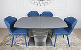 Стол обеденный раздвижной серый ATLANTA (Атланта) 140/180 графит Nicolas (бесплатная доставка), фото 5