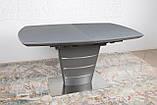 Стол обеденный раздвижной серый ATLANTA (Атланта) 140/180 графит Nicolas (бесплатная доставка), фото 8