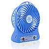 Портативный вентилятор 2E Mini Fan Portable с аккумулятором 18650 blue