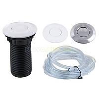 Кнопка пластик хром/белый 67,5 мм для установки в столешницу уничтожителя пищевых отходов