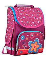 Школьный каркасный рюкзак 1 Вересня smart pg-11 flowers red для девочки (554456)