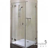 Душевые кабины, двери и шторки для ванн Kolo Распашная душевая дверь Kolo Niven 80 FDSF80222003L глянцевый хром, прозрачное, левостороннее