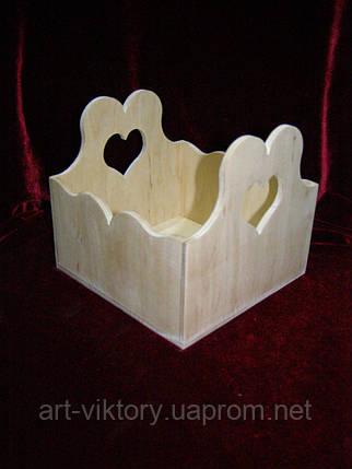 Короб с сердечками. декор (15 х 15,5 х 14 см), фото 2