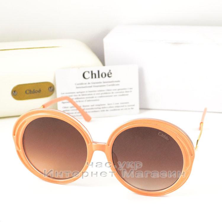 e0381735ba02 Солнцезащитные очки Chloe Круглые цветные коричневые современная эффектная  модель Хлое качественная реплика