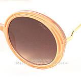 Солнцезащитные очки Chloe Круглые цветные коричневые современная эффектная модель Хлое качественная реплика, фото 2