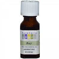 Масло Бей для укрепления и роста волос, эфирное 100% (Бэй), Aura Cacia, 15мл
