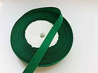 Тесьма лента репсовая Стрічка репсова 13 мм ( 22 метри в рулоні) зелений зеленка