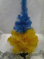 Искусственная елка желто-голубая