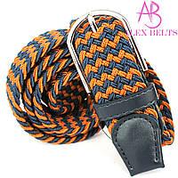 Ремень плетенка резинка на шпеньке (комбинированная) 35 мм - купить оптом в Одессе