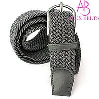 Ремень плетенка резинка на шпеньке (серый) 35 мм - купить оптом в Одессе