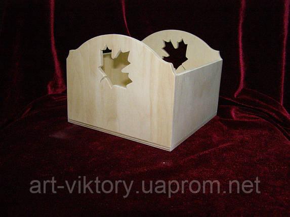 Короб кленовий лист (15 х 15 х 12 см), фото 2