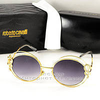 Женские солнцезащитные очки Roberto Cavalli  Carducci Круглые оправа металлическая изысканная новинка реплика