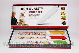 Ножі кухонні метало-кераміка 3в1