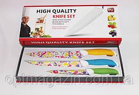 Ножі кухонні метало-кераміка набір 3в1