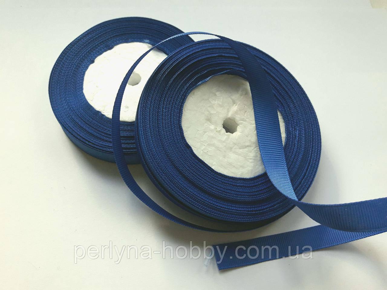 Стрічка репсова 13 мм ( 22 метри в рулоні) синя, темно волошкова