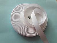 Стрічка репсова 13 мм ( 22 метри в рулоні),  біла