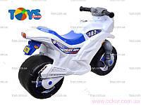 Мотоцикл двухколесный с каской белый 501 в.2 (1) [281208]